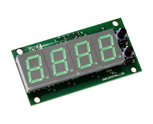 DMX-Adressmodul mit LED-Display